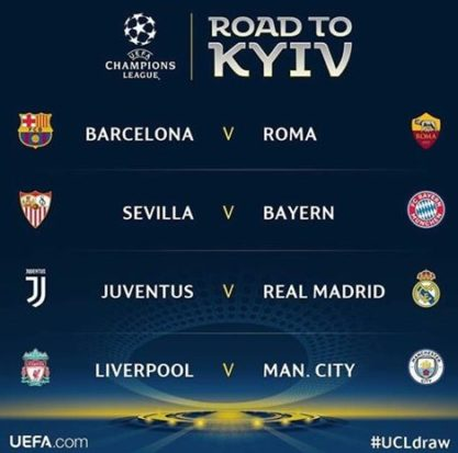 Drawing Perempat Final Liga Champions: Barcelona Vs Roma, Juventus Hadapi Real Madrid